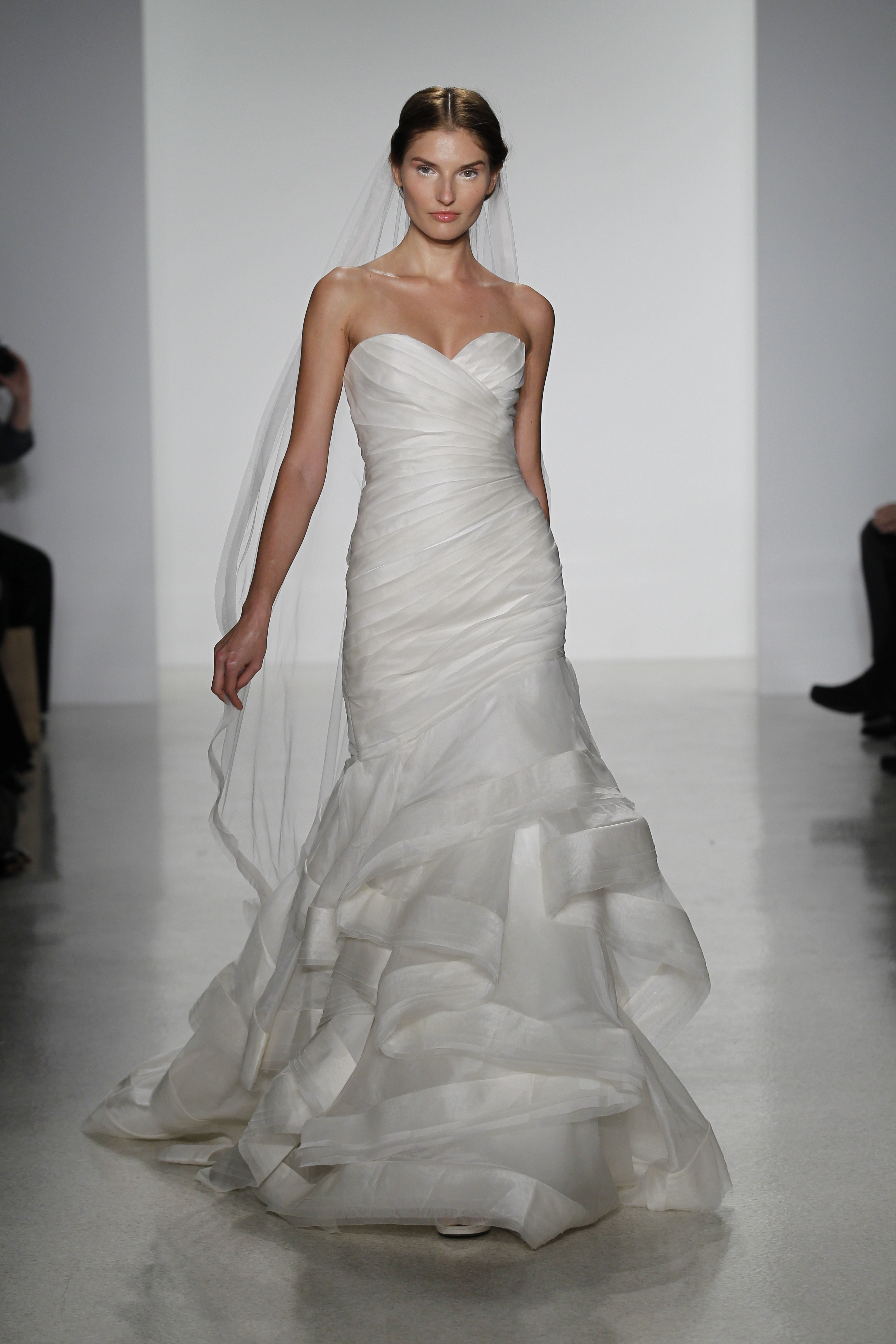 Fashion4brides bridal fashion and couture for Fit and flare ruched wedding dress