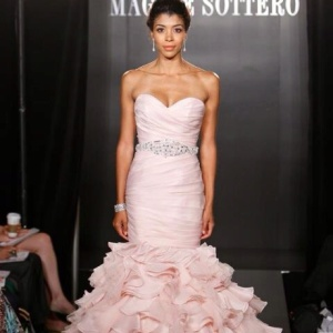 Maggie Satero Blush Gown