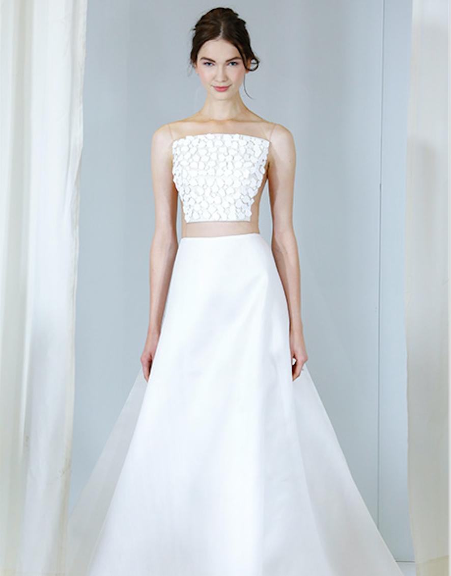 Fall 2016 Bridal Market Trend- Crop Top Wedding Gown – Fashion4Brides