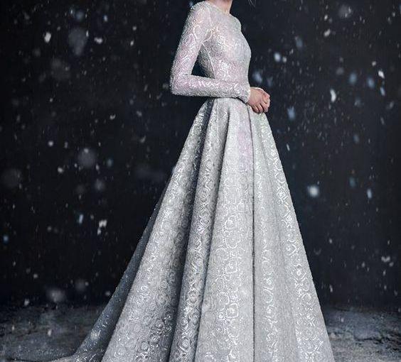 Designer Trend- Silver Metallic WeddingGown